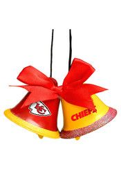 Kansas City Chiefs Two Bells Ornament