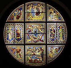 Vetrata del Duomo di Siena, Duccio