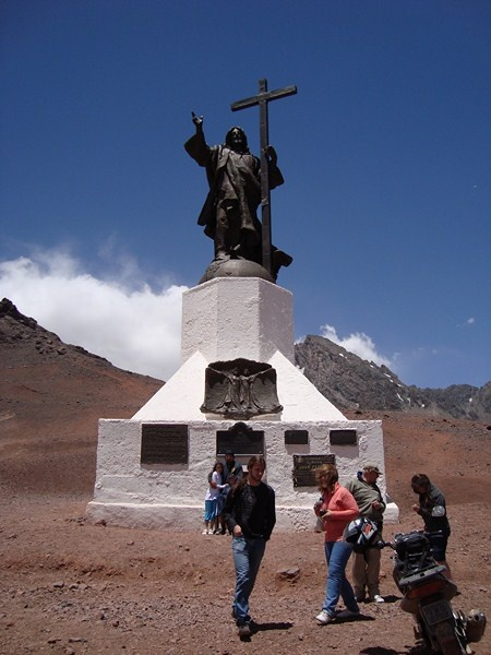 Christ on the border between Argentina and Chile, 3.400m of altitude in the Andes mountain range, so nice!