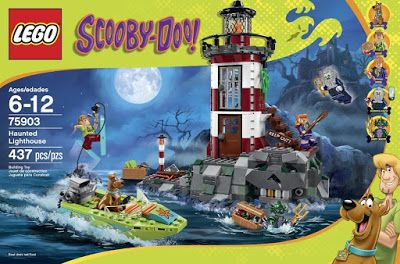 The sets are:  LEGO 75904 Mystery Mansion 860 pieces  LEGO 75903 Haunted Lighthouse – 437 pieces  LEGO 75902 the Mystery Machine---301 pieces  LEGO 75901 Mystery Plane Adventures – 128 pieces  LEGO 75900 Mummy Museum Mystery---110 pieces