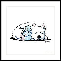 Tuckered Out Framed Print by Kim Niles