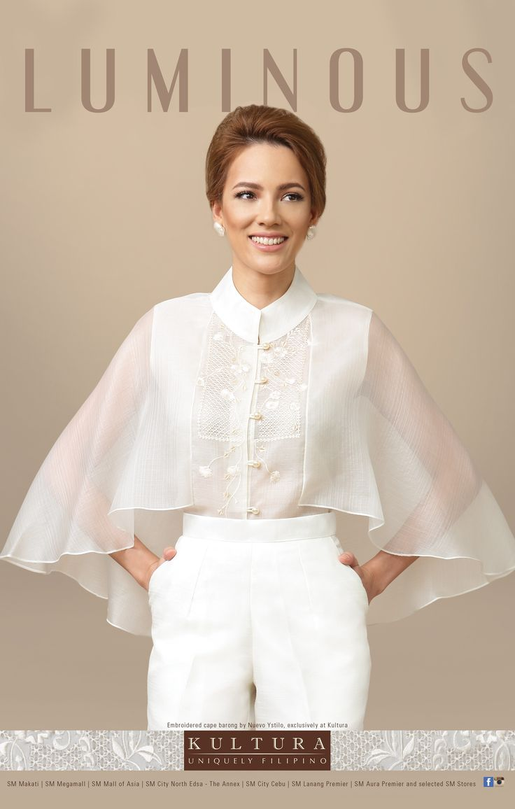Embroidered cape barong in cocoon