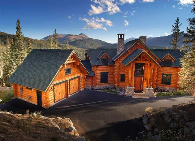 Log homes handcrafted timber frame and hybrid homes by for Timber frame hybrid house plans