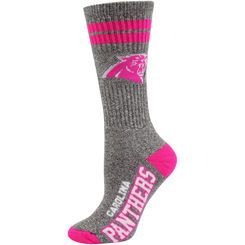 Carolina Panthers Women's Marble Tall Socks - Gray/Pink