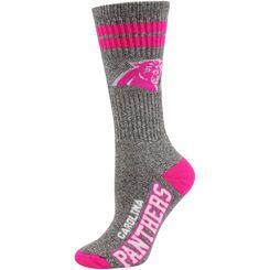 Carolina Panthers Women's Marble Tall Socks - Gray/Pink