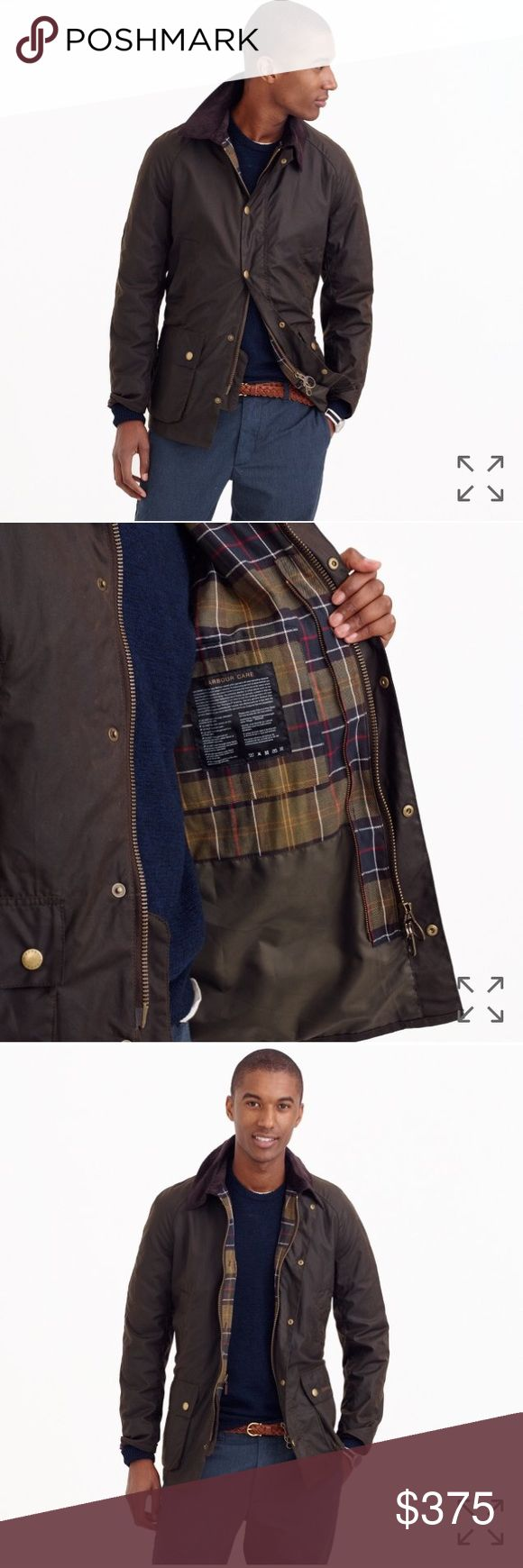 Barbour Sklkoil Ashby Jacket ****color is olive****                                              A more tailored version of the Barbour Bedale jacket, the Ashby is made with the brand's signature Sylkoil waxed cotton with a weatherproof matte finish for a lived-in look. Inspired by the company's Scottish heritage, it's lined in Barbour's original classic tartan.  -Medium-weight waxed Sylkoil cotton. -Corduroy collar. -Hidden zip with snap closure. -Patch pockets. -Lined. -Spot clean…