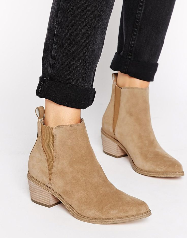Image 1 of ASOS RISKED IT Suede Chelsea Boot. This boot colour is my new obsession.