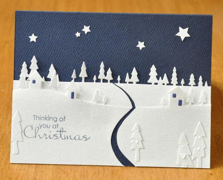 HYCCT1319 Wintery Landscape by Dockside - Cards and Paper Crafts at Splitcoaststampers