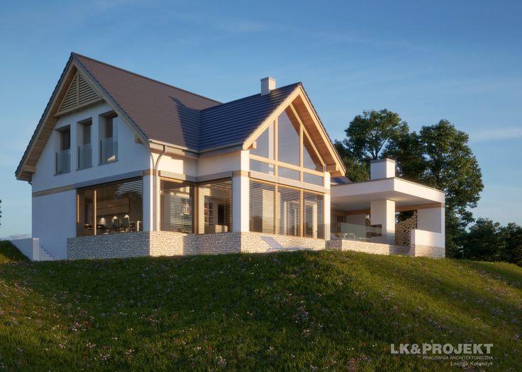 LK&1303 - http://lk-projekt.pl/lkand1303-produkt-9626.html #lk-projekt #lkprojekt #lkproject #projektdomu #projekty #domjednorodzinny #house #project #beautifulhouse  #homesweethome #design #architecture #polisharchitecture #traditionalhouse #dom #domtradycyjny #domy #tradycyjne