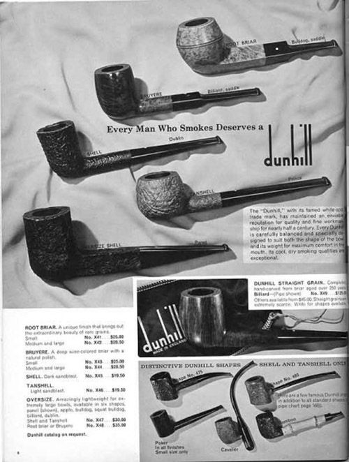 The Dunhill pipe collection for the discerning man.