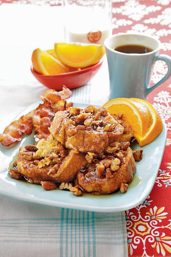 Let Your Slow Cooker Handle Breakfast: Cinnamon-Pecan Breakfast Bread Pudding