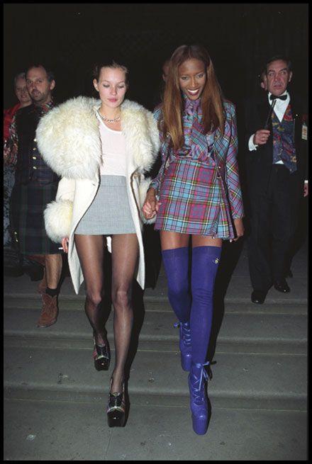 Twee van de supermodellen uit de jaren negentig - Kate Moss & Naomi Campbell.