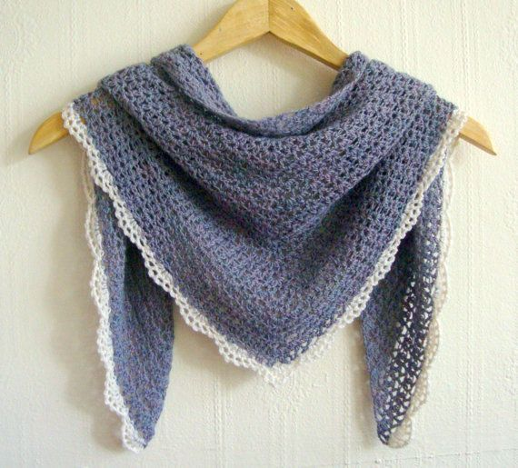 Crochet Shawl Pattern I like the pretty simple look to this
