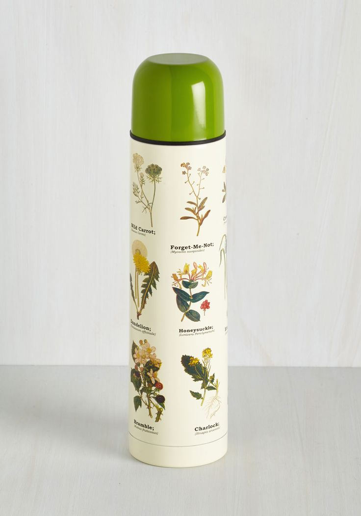 Culinary Genus Travel Bottle. Spend your day off exploring your natural campfire cooking talent as you savor the scenic details adorning this travel bottle! #cream #modcloth