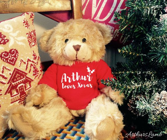 Personalised Teddy,Christmas Bear,Personalized Teddy Bear,Teddy Bear,Christmas Gifts,Christmas Gift Ideas,First Christmas,Xmas Decorations