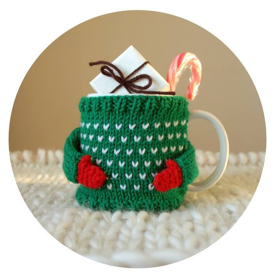 Cozy Mug Sweater for Christmas by mugsweater on Etsy, $19.00