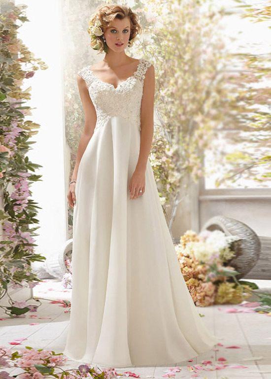 Resultado de imagen para vestido de novia embarazada con escote en espalda