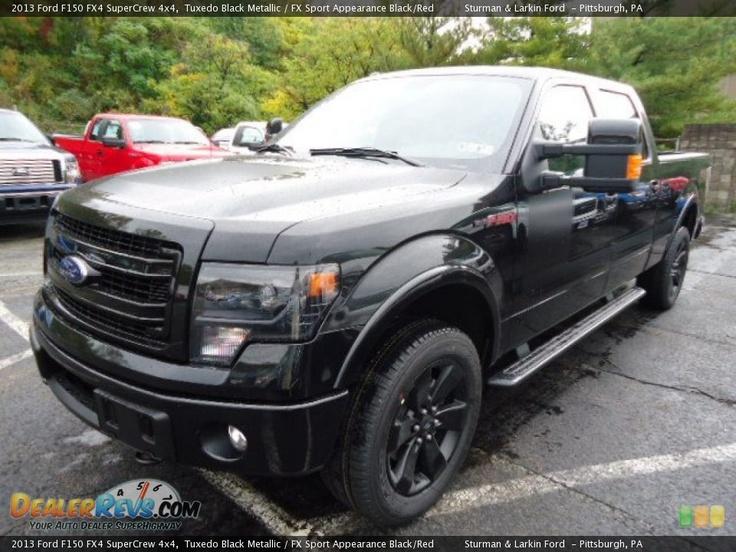 2013 ford f150 fx4 supercrew 4x4 tuxedo black metallic fx sport appearance blackred