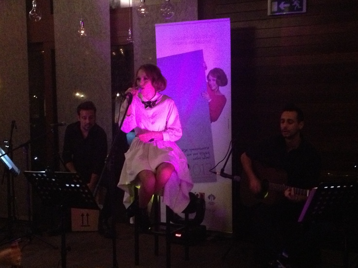 Tamta singing for Avon's breast Cancer Campaign
