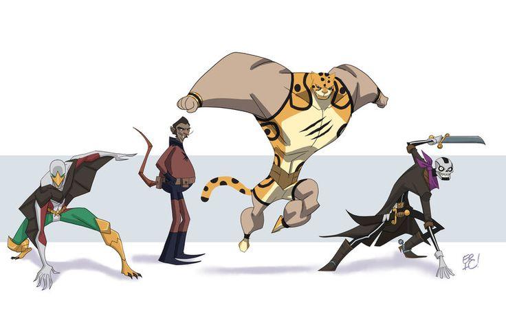 Aguila Character Line Up Revised by EricGuzman.deviantart.com on @deviantART