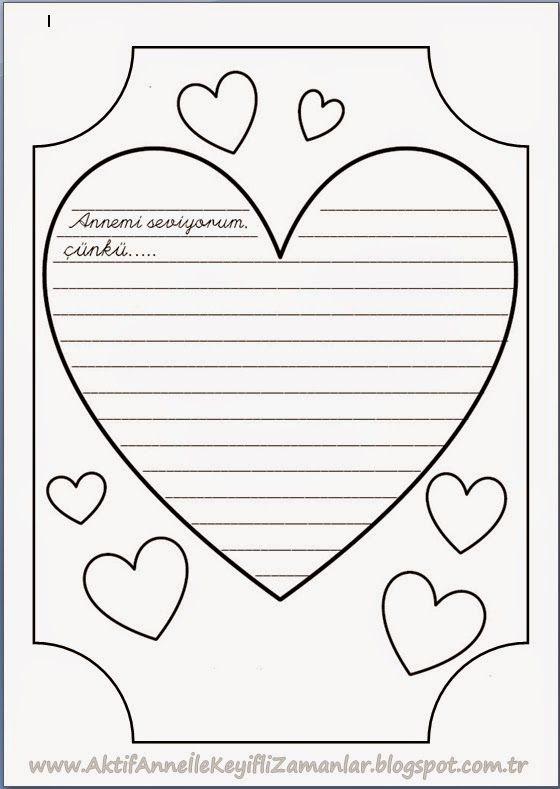 """Anneler günü yaklaşırken çocuklarınızla beraber yapabileceğiniz bir kaç etkinlik hazırladım.     İlk olarak """"Kalp Çiçekleri""""mizle başlaya..."""