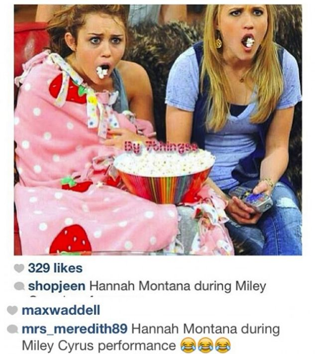 Hannah Montana during the Miley Cyrus performance.