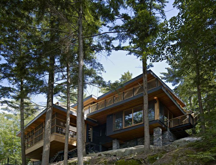 Altius Architecture Inc : Lake Joseph Cottage - exterior view. www.altius.net