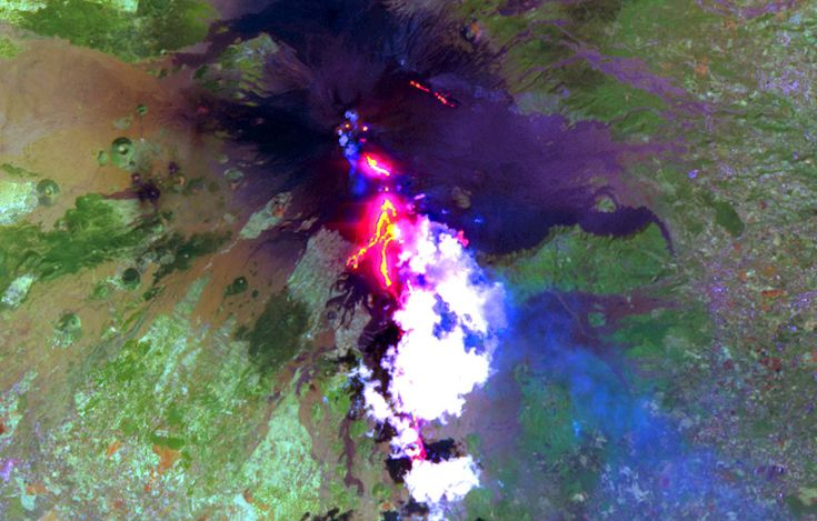 Mount Etna as seen from ASTER
