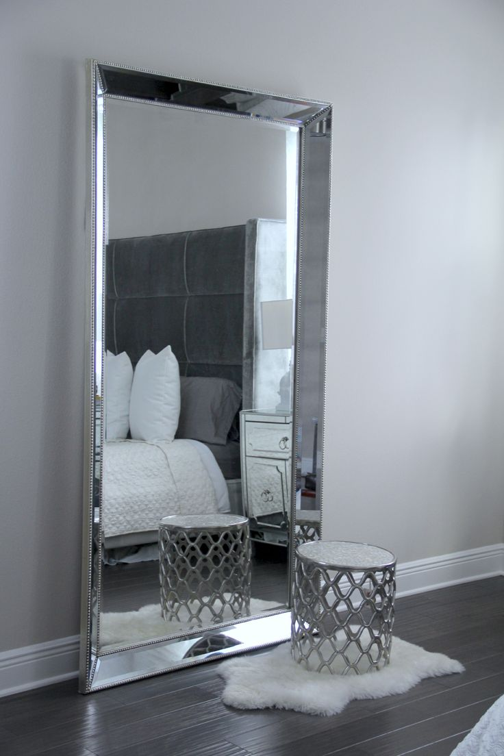 Antique Leaner Mirror For Your Room Decoration Ideas: Silver Leaner Mirror  | Large Floor Mirrors