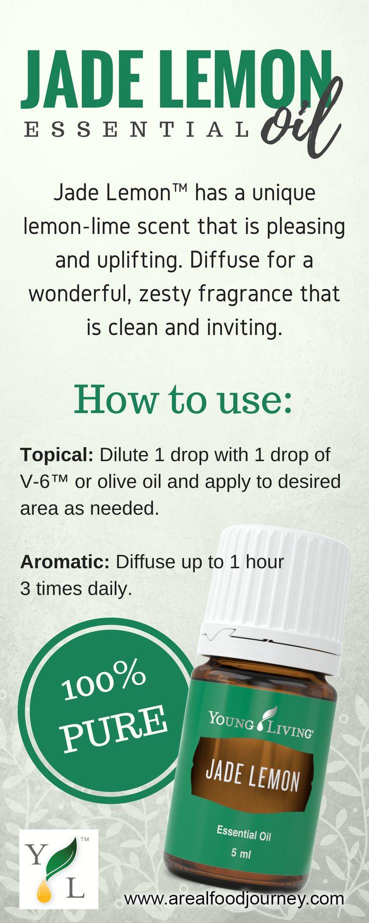 jade lemon essential oil Mix with Citronella essential oil for a pleasant, citrus-scented insect repellant.
