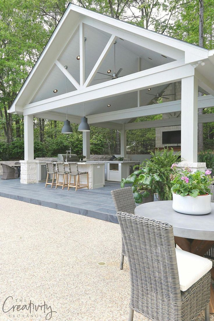 Kombination Outdoor-Küche und Pool House Pavilion #outdoorIdeas