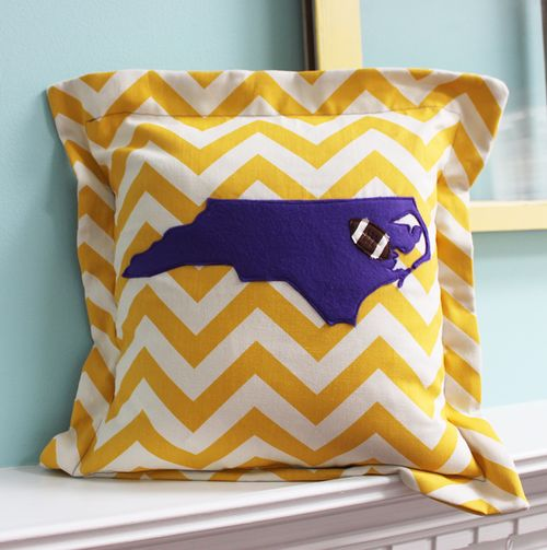 pirate football pillow . I  need 2 for my porch rockers !