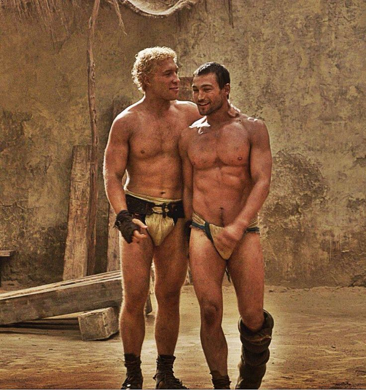 Gay sex scènes in Spartacus