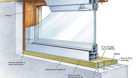 If your steel-frame, cast-in-place basement windows are starting to show signs of corrosion, or if the single-pane glass and lack of gasketing is becoming an obvious chink in the thermal envelope of your house, it's time for an upgrade. In this Project House article, remodeler Mike Guertin shows how to remove an old basement window and replace it with a modern, energy-efficient vinyl window.Video extra: See Mike Guertin's window-removal method in action.