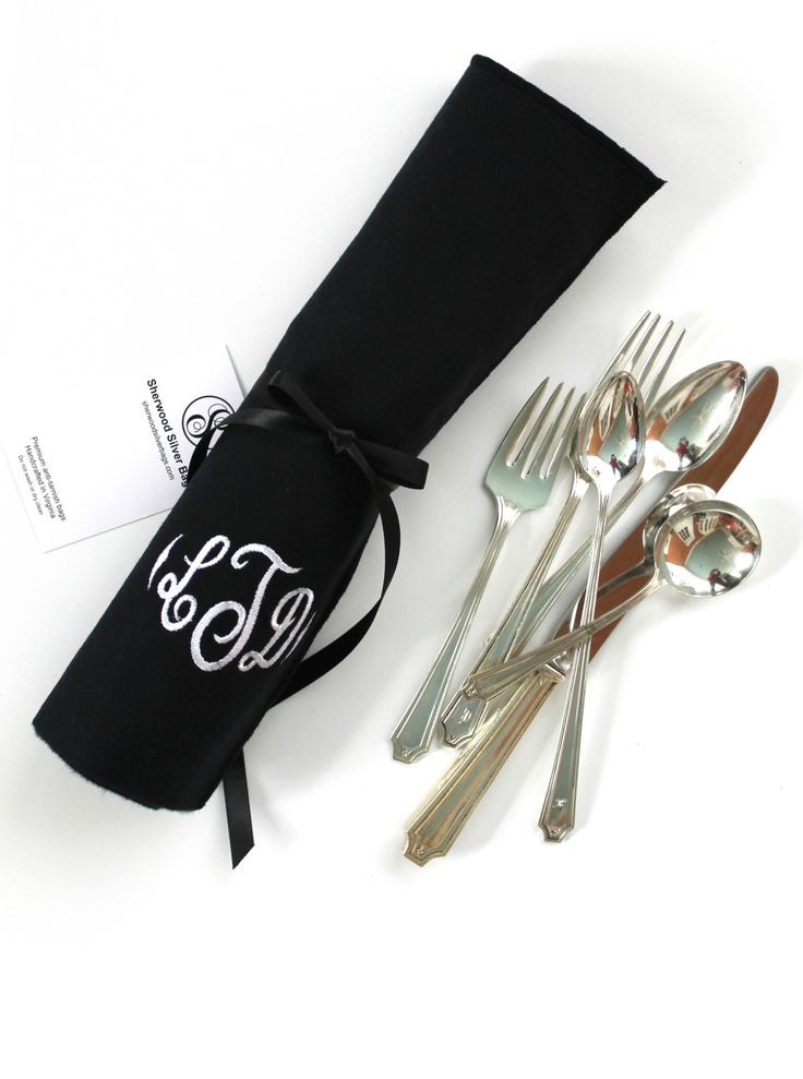 King Albert sterling silver flatware by Whiting.  Whiting introduced this pattern in 1919.  In 1905, Gorham purchased Whiting and made silver under the Whiting brand until it was discontinued in 1926. You can find the anti-tarnish flatware roll at Sherwood Silver Bags.
