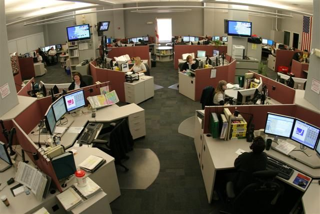 Honeycomb Type Of Call Center Cubicles
