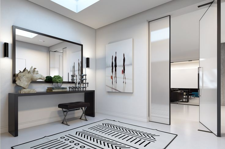 ENTRANCE   Residential design by Domestic Design  Visual by Ando Studio