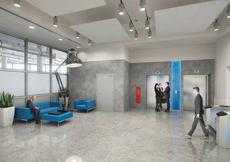 Hole wejściowe do biurowca wydawnictwa prasowego / Entrance halls to the office building of the publishing press