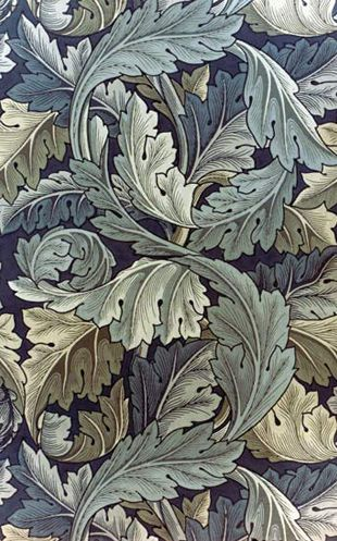 William Morris - PreRaphaelite Designer - Wallpaper - Acanthus leaf