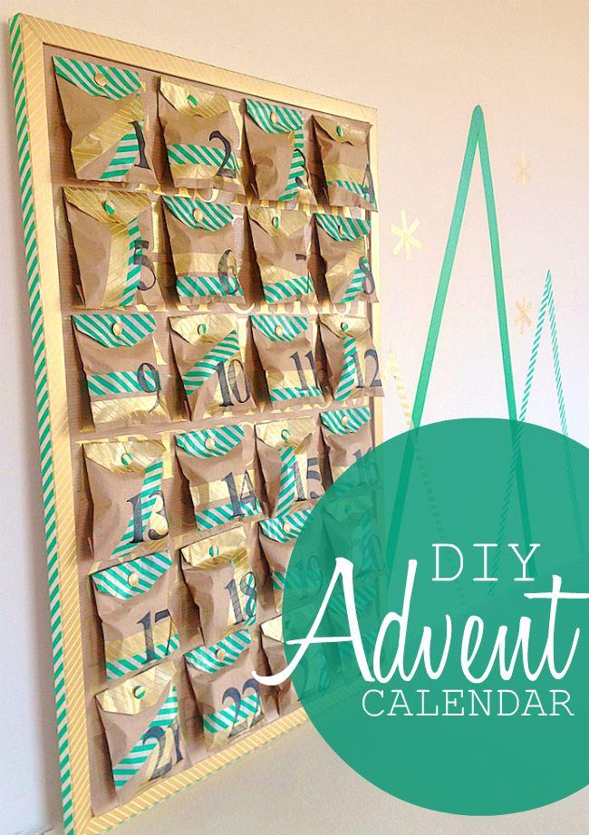 Omiyage Blogs: DIY Kraft + Washi Tape Advent Calendar