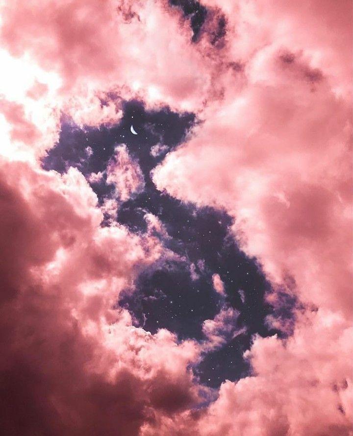 Rose Gold Pink Moon Clouds Sky Art Wallpaper Background In 2020 Pink Moon Wallpaper Gold Wallpaper Background Rose Gold Wallpaper