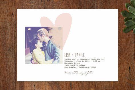 Simply Love Wedding Invitations by Aspacia Kusulas at minted.com