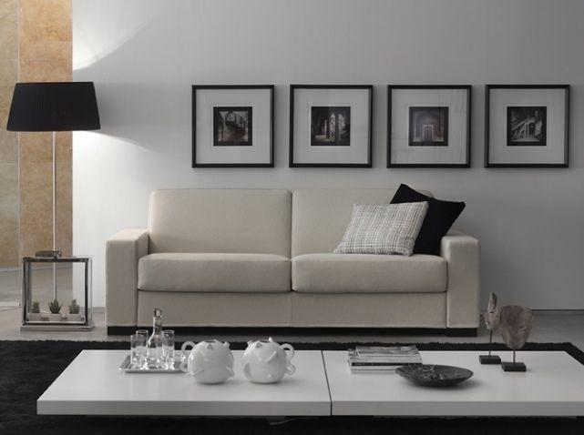 Salon noir blanc canape duke maison du convertible