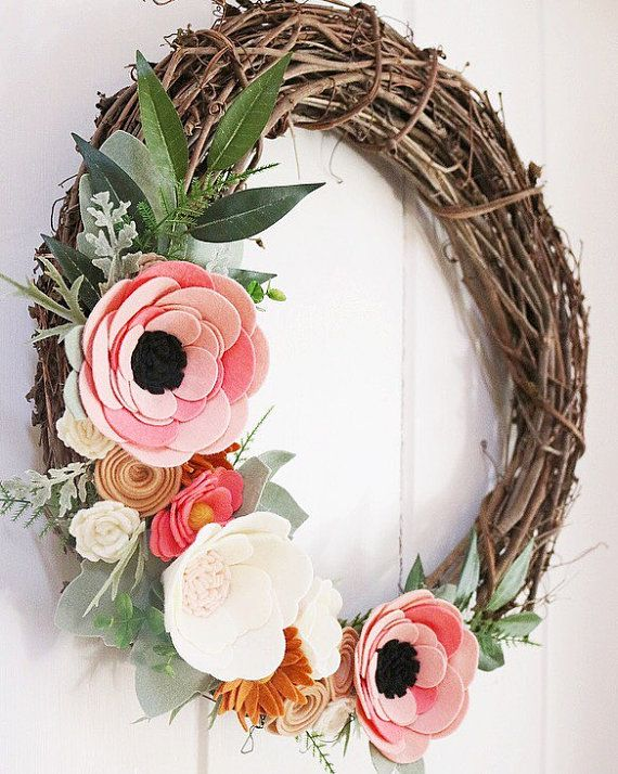 Rifle Paper Co Inspired Wreath Rosa Floral Fabric by alisonmichel