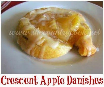 Crescent Apple Danishes
