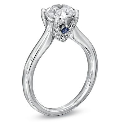 Vera Love Collection 1 2 Ct T W Diamond Engagement Ring In