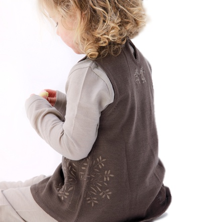 The Merino Kids Tunic - Looks fabulous over leggings, tights or jeans!    Available in three beautiful colours to complement our existing ranges:    Dark Natural  Dark Periwinkle  Grey Marle
