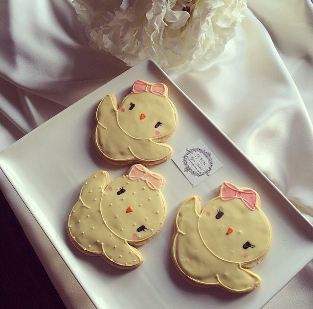 Easter chick cookies 2015
