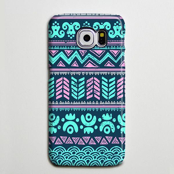 Turquoise Aztec Tribal Retro Galaxy s6 Edge Plus Case Galaxy s6 s5 Case Samsung Galaxy Note 5 4 3 Phone Case s6-034
