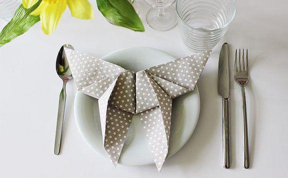 Schmetterling Serviette falten